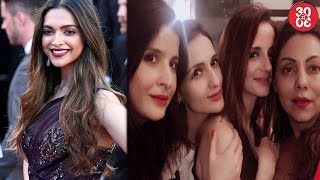 Deepika Shines With Her Cannes Red Carpet Debut | BFF Gauri Khan & Sussanne Bond