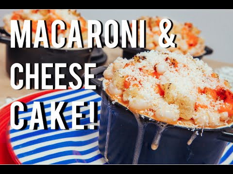 How To Make MACARONI AND CHEESE out of CAKE Orange velvet cake and cream cheese frosting