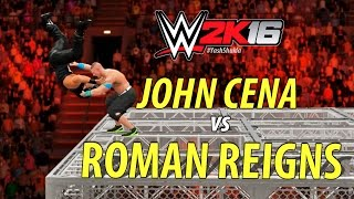 WWE 2K16 - John Cena vs Roman Reigns | Hell In A Cell Match (feat. AA Off-The-Cell)