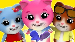 Three Little Kittens | Nursery Rhyme | Baby songs | Kids Rhymes | Farmees Videos