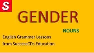 English Grammar lesson - GENDER