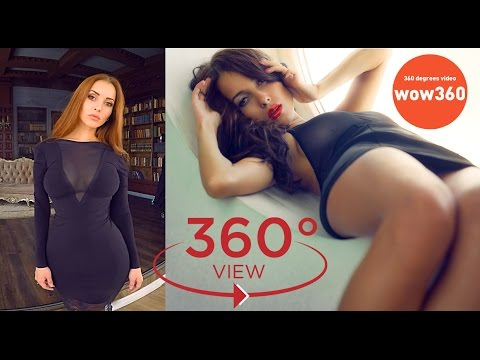 VR video girl - Lady Olga shows her beautiful girlfriend (360 degree video)