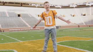 Bullied Keaton Jones Spends the Day With University of Tennessee Football Team