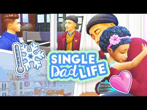IT'S A BLIZZARD OUTSIDE!⛄ + ROMANCE SPARK?💗 // THE SIMS 4 | SINGLE DAD LIFE #17