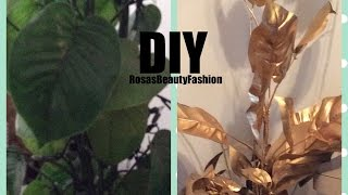 🌱DIY 🌱Turn Your Old  House Plant From Green To Gold 🌱Rosa