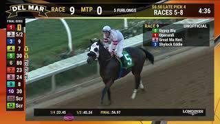 Gypsy Blu Wins Race 9 at Del Mar 11/11/18