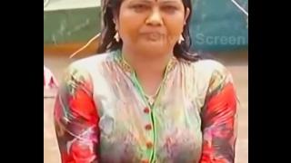 Telugu Actress Hema Aunty Hot  Cleavage Video