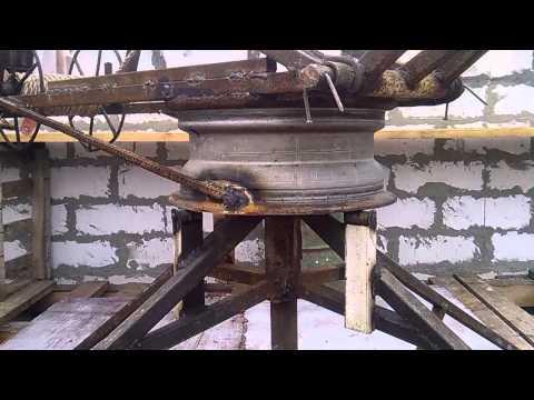 Самодельная лебедка для поднятия груза