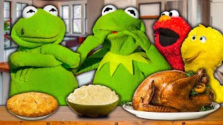 Kermit the Frog's Thanksgiving Dinner with Secret Brother! (He's Evil)
