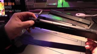 CES 2016: Lenovo ThinkPad X1 Tablet Hands On Test - Deutsch / German ►► notebooksbilliger.de