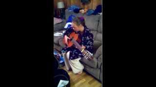 Mikaila and her Guitar...Christmas Morning 12/25/12