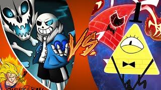 SANS vs BILL CIPHER 2! REMATCH! Cartoon Fight Club Episode 99 REACTION!!!