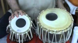White India  - Tabla Lesson - 5 - exercise for bayan hand