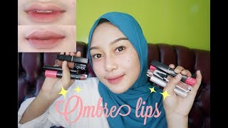TUTORIAL OMBRE LIPS SIMPLE  ALA MUTIA ANJANI💄 ||  3 LOOK LIPS GRADIENT