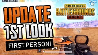 FIRST LOOK: PUBG MOBILE First Person Perspective Gameplay