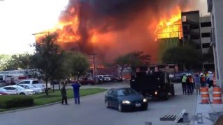 Massive 5 alarm luxury apartment fire in Montrose Houston, TX