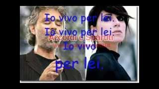 Vivo per lei con testo  Andrea Bocelli e Giorgia by momoyac