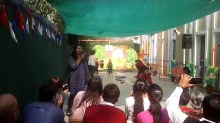 5 year old kids performing in play school drama
