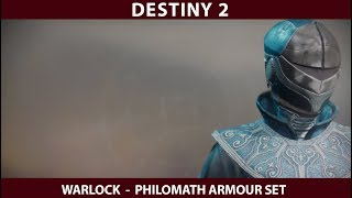 Destiny 2 Warlock Philomath Armour.