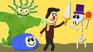 Zombey bringt seine Freunde um.
