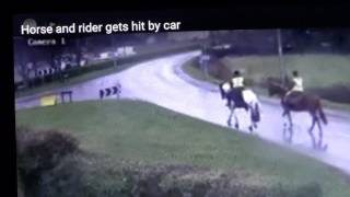 Horses Get Hit By Car Because Two Smart Women Put Helmets On When They Ride