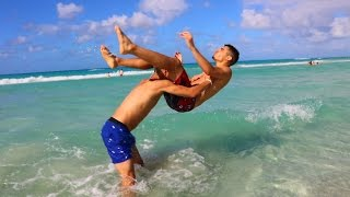 WWE MOVES AT THE BEACH 3