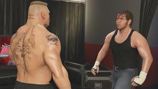 WWE 2K17 Backstage - Brock Lesnar vs Dean Ambrose - Wrestlemania 32