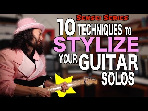 Techniques To Stylize Your Guitar Solos