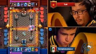 Sergio Ramos vs Tali - Crown Championship World Finals 2017 - Clash Royale  Español