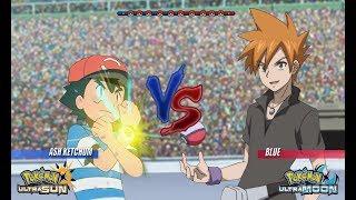 Pokemon Battle USUM: Alola Ash Vs Blue (Pokémon Wifi Face Off!)