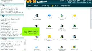 How to synchronize FTP passwords in WHM