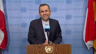 Iran on US Drone & Attacks on Oil Tankers - Media Stakeout (24 June 2019)