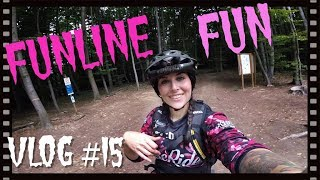Funline Fun l MTB Freeride l Uphill l Miss Peaches VLOG #15