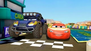 Disney Cars 3 Race - Eastern Breeze Lightning Mcqueen vs Blue vs Francesco Bernoulli