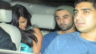 Ranbir Kapoor & Katrina Kaif SPOTTED @ SPECIAL Brothers screening