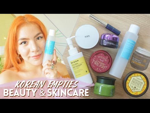 Korean Beauty & Skincare Empties | Mizon, IOPE, Skinfood, Innisfree, VOV