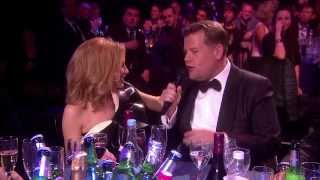 James Corden chats with Kylie Minogue   BRIT Awards 2014
