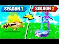 FORTNITE SEASON 1 vs SEASON 7 WITH MY LITTLE BROTHER! (Unvaulted LTM)