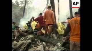 PHILIPPINES: FLIGHT 541 AIRPLANE CRASH AFTERMATH