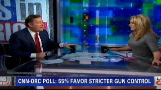 Piers Morgan gets angry after losing Gun Control debate and throws his notes towards his guest !