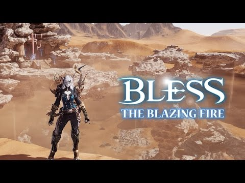 watch Bless Online The Blazing Fire - Exploring New Desert Area