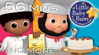 Bake, Bake A Cake | Plus Lots More Nursery Rhymes | 56 Minutes Compilation from LittleBabyBum!