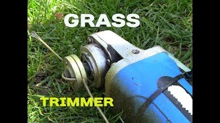 How to make a Home Grass Trimmer with a Angle Grinder DIY