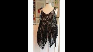 لانجري صيفي سهل بالكروشيه مع المقاسات Crocheted summer lingerie
