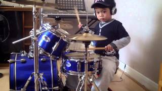 System Of A Down - Chop Suey drum cover, 4-Year-Old Drummer