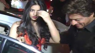 Shahrukh Khan gentlemanly behaviour towards daughter Suhana   Watch Video
