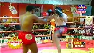 ធី តុងហី Vs អ៊ីរ៉ង់, Thy Tonghy, Cambodia Vs Mostafa, Iran, Khmer Boxing 15 Dec 2018