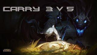 Carrrying 3v5 ARAM - League of Legends (Kindred full gameplay)
