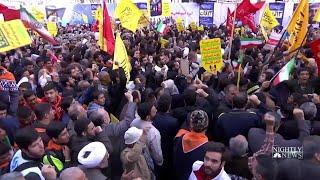 Iranians Protest Amid New U.S. Sanctions | NBC Nightly News