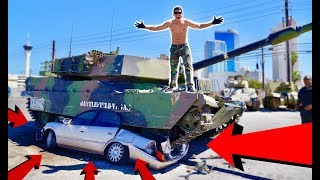 CRUSHED A CAR WITH MY NEW TANK! *epic*